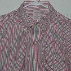 Brooks brothers dress mens shirt size 17 J901